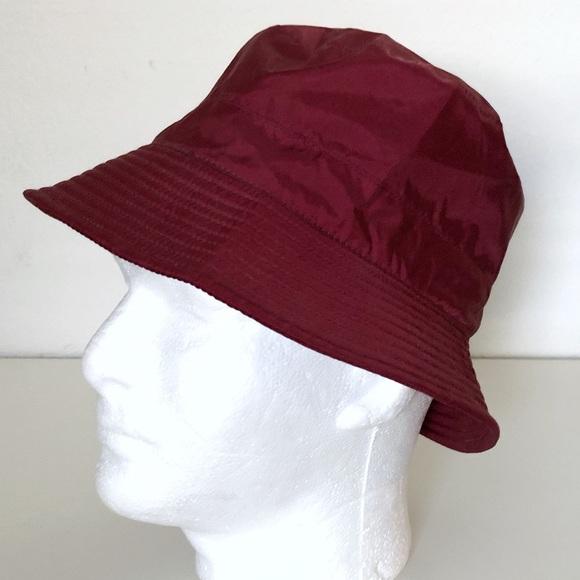 Eddie Bauer Accessories - Eddie Bauer Fleece Lined Rollup Rain Bucket Hat OS